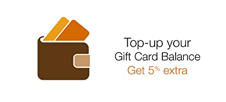 Top-up your Gift Card Balance and get 5% extra