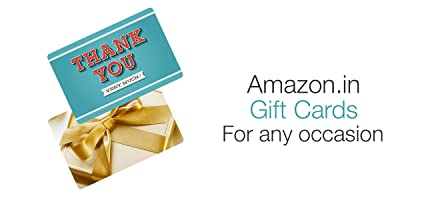 Amazon.in Gift Cards:For any occasion