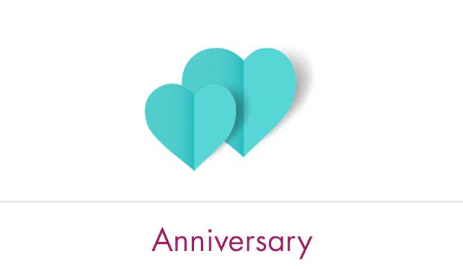 Anniversary Gift Cards