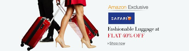 Amazon Exclusive - Fashionable Luggage from Safari