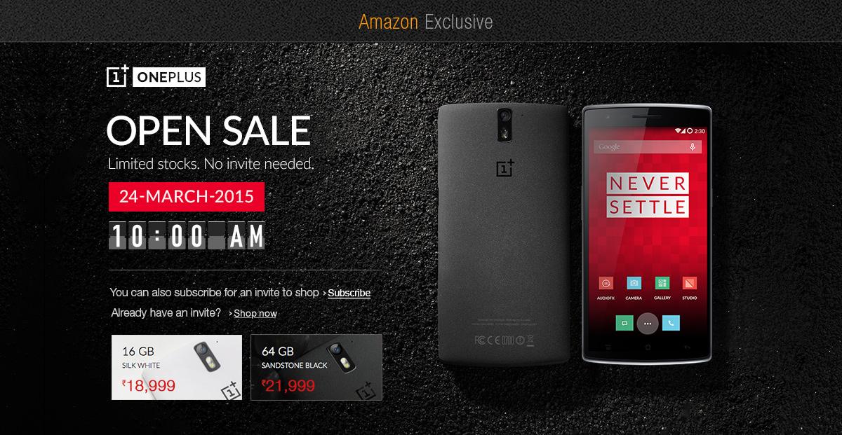 OnePlus One No Invite Sale