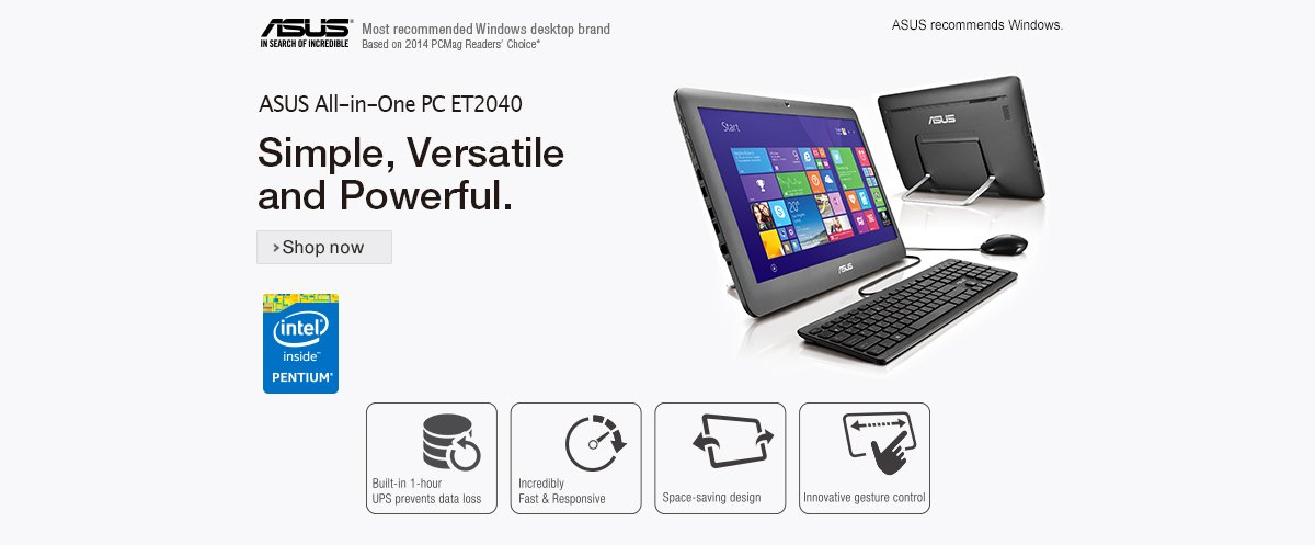 Asus ET2040IUK-BB015W 19.5-inch All-In-One Desktop