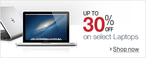 Up to 30% off on select Laptops