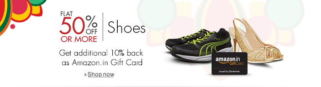 Flat 50% Off or more on Shoes
