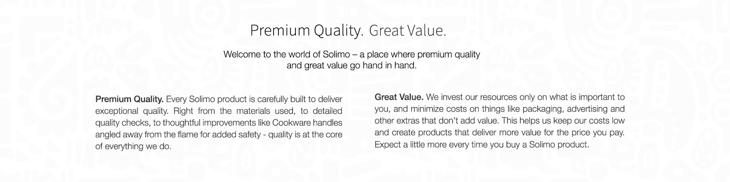 Solimo - Premium Quality. Great Value