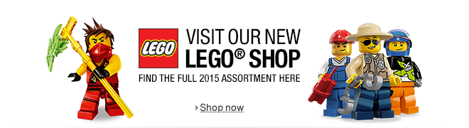 Visit our new LEGO Shop: Find the full 2015 Assortment here