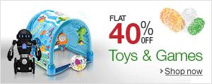 Flat 40% off on select Toys & Games