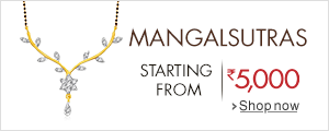 Mangalsutras starting from Rs. 5,000