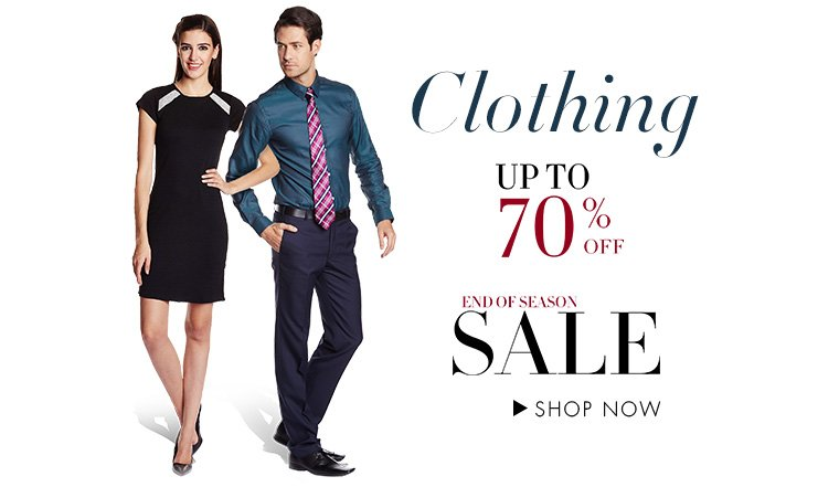 Up to 70% off on Clothing