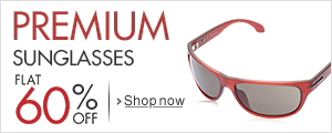 Flat 60% off on premium sunglasses