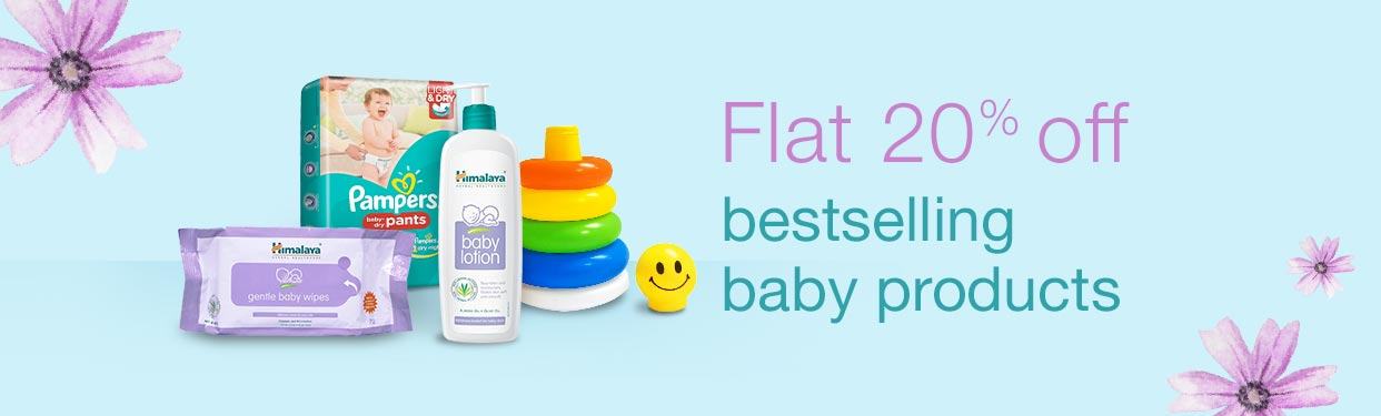 Flat 20% bestselling baby products