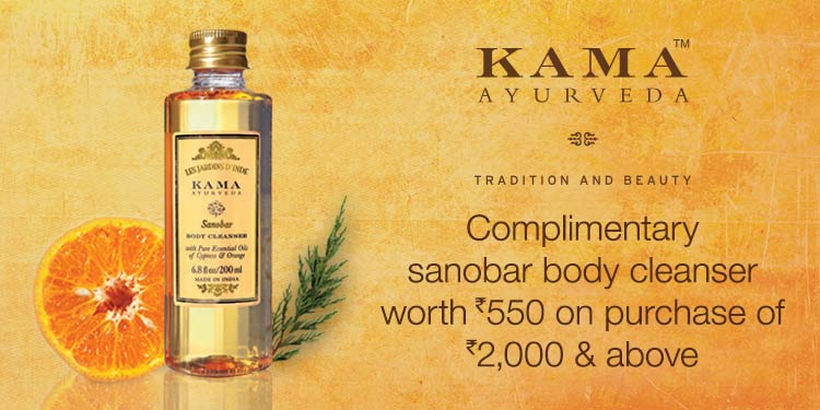Amazon : Complimentary Sanobar body cleanser worth Rs.550/- on purchase of Rs.2000/- & above