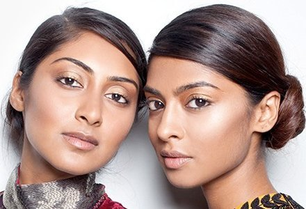 ##Sharp Lines Beat the heat with sharp side parted updos, team it with rounded eyebrows, and thin kajal strokes to complete the look.