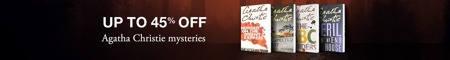 Up to 45 % off on books by Agatha Christie