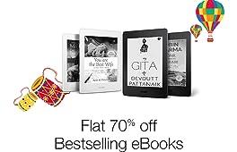 Flat 70% off on Bestselling Kindle EBooks