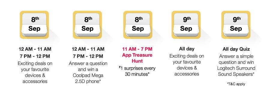 Amazon App Treasure Hunt Clue Answers September 2016