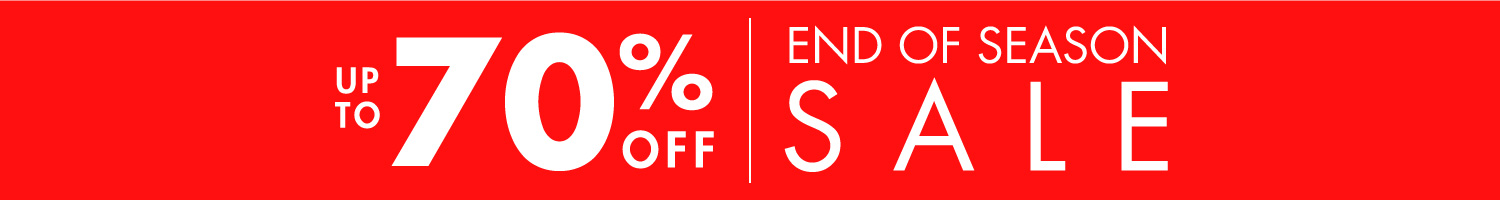 End of season sale | Up to 70% off