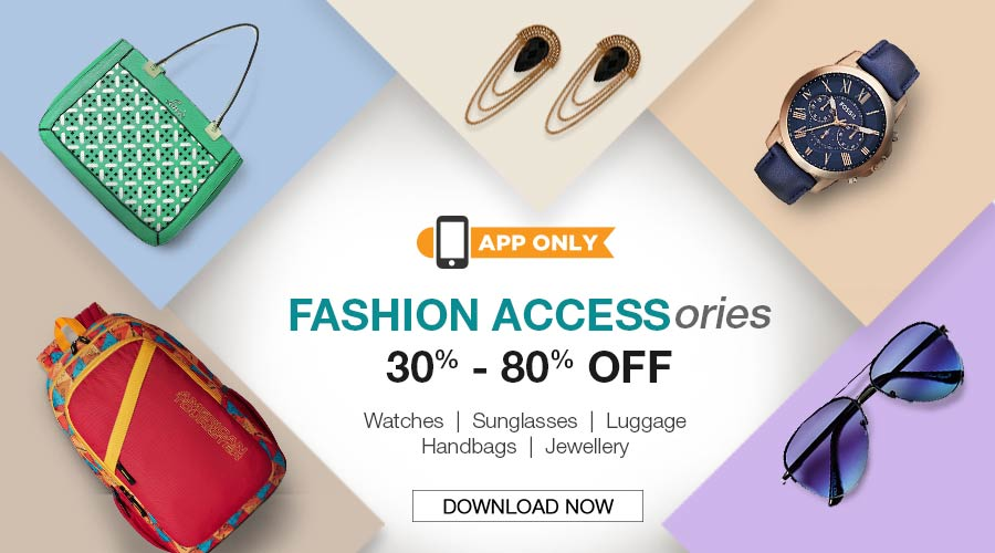 App Only - Fasion Accessories 30% - 80% off