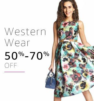 Western wear: 50% - 70% off