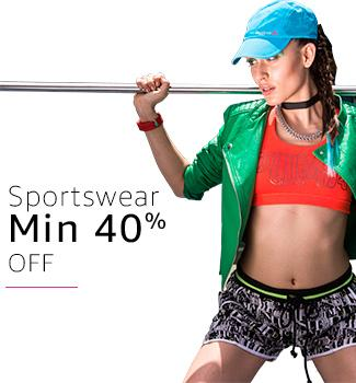 Sportswear: Minimum 40% off