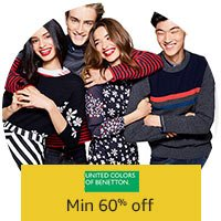 Amazon: United Colors of Benetton Clothing – Minimum 60% OFF