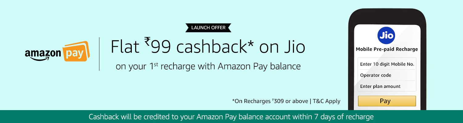 Flat Rs 99 cashback on Jio