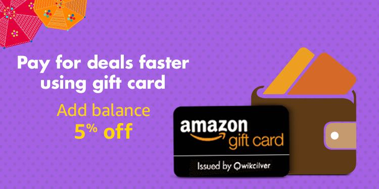 gift card 5% topup offer