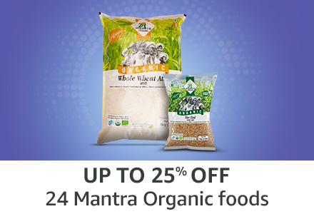 Up to 25% off: 24 Mantra Organic foods