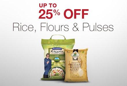 Rice, Flour, Pulses