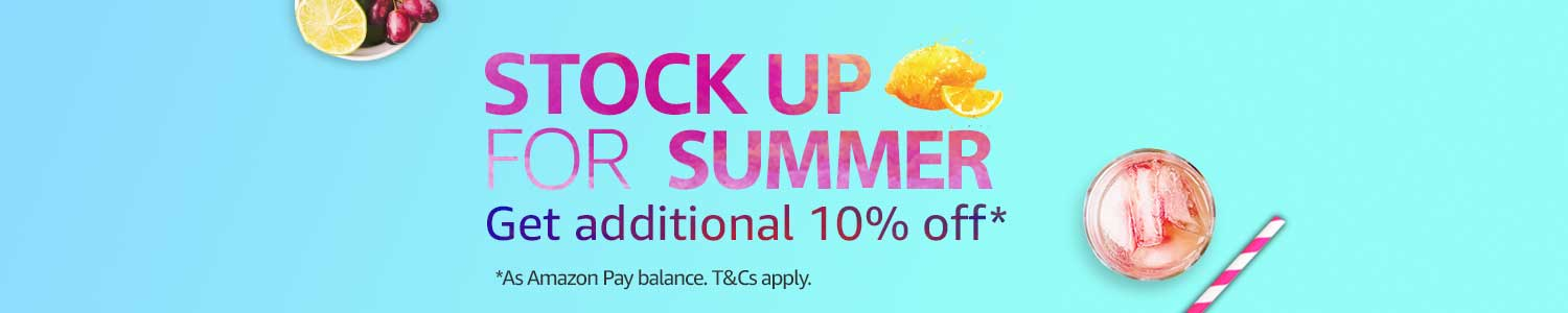 Stock up for summer offer