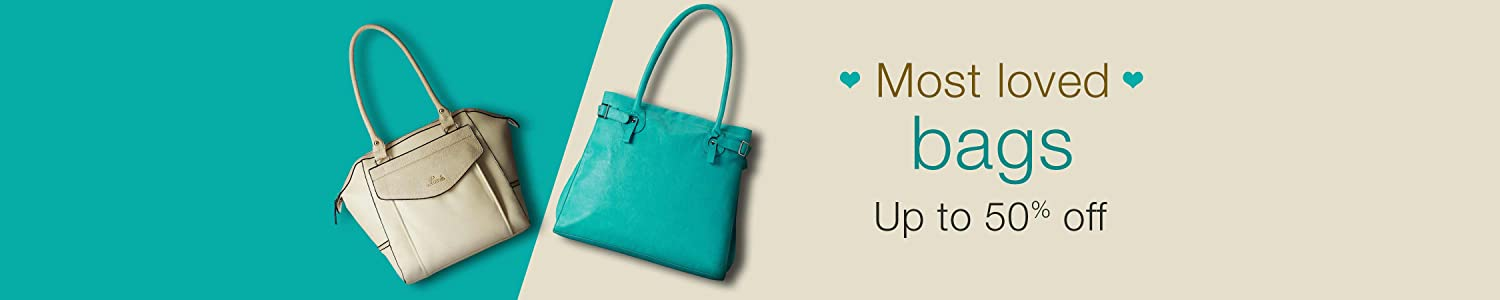 Handbags Up to 50% off