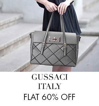 Gussaci Italy Flat 60% off