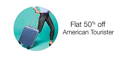Flat 50% off: American Tourister