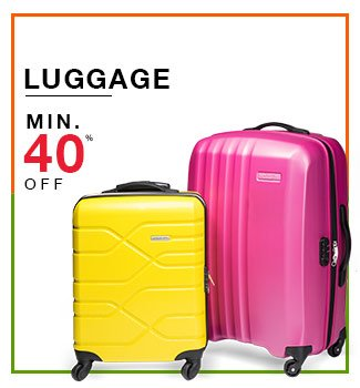 minimum 40% off on luggage