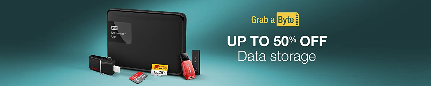 Upto 50% off Data Storage