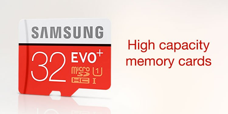 High Cap Memory Cards