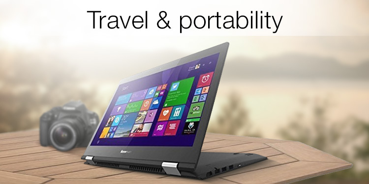 Laptops for travel and portability