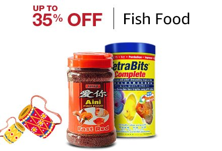 Up to 35% off Fish Food