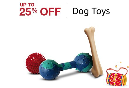 Up to 25% of Dog Toys