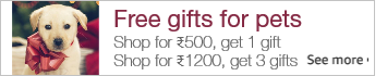 buy worth Rs. 500 from selected ASINs, get 1 product free from the gift list, buy worth Rs. 1200, get 3 products free from the gift list.