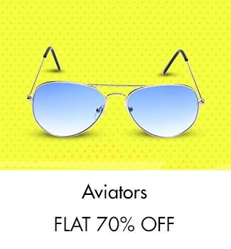 Aviators: Flat 70% Off