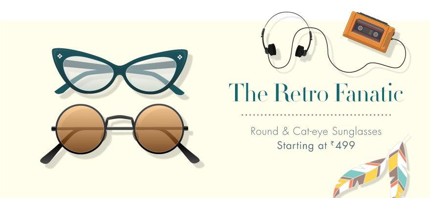 Cateye & Round Sunglasses