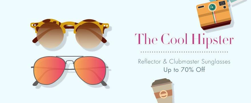 Retro sunglasses: reflectors & clubmasters