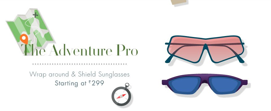 Wraparound & shield sunglasses