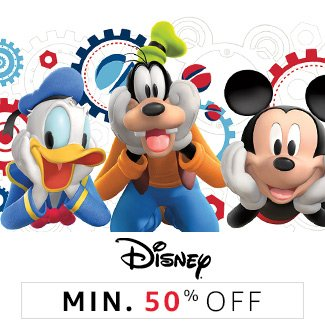 Disney: Minimum 50% off