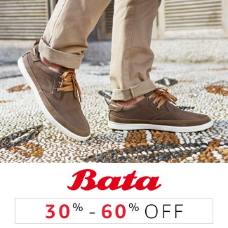 Bata : 30% to 60% off