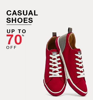 Casual shoes : up to 70% off