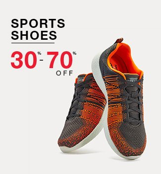 Sports shoes : 30% to 70% off