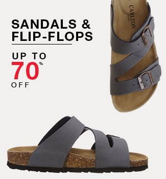 Sandals & flip-flops : Up to 70% off