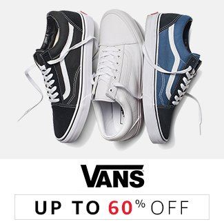 Vans : Up to 60% off